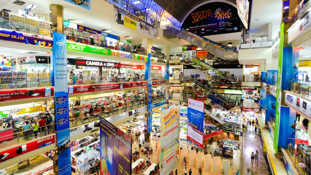 Những khu mua sắm tại Thái Lan luôn sầm uất