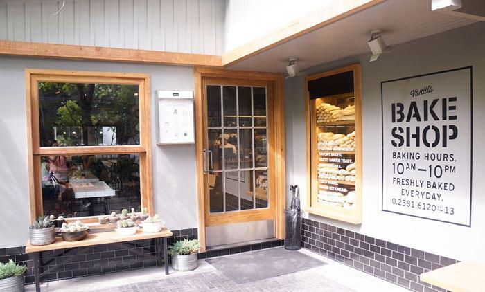 Vanilla Bake shop với không gian ấm cúng
